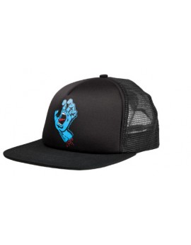 santa cruz cap trucker screming hand black