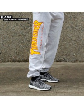 thrasher pantalon flames grey