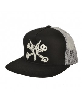bones trucker puff white