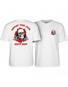 powell peralta tee support your white